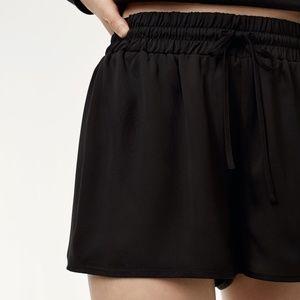2/$20 Sunday Best Black Polyester Drawstring Short